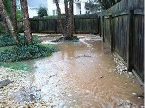Flooding due to improper grading and drainage