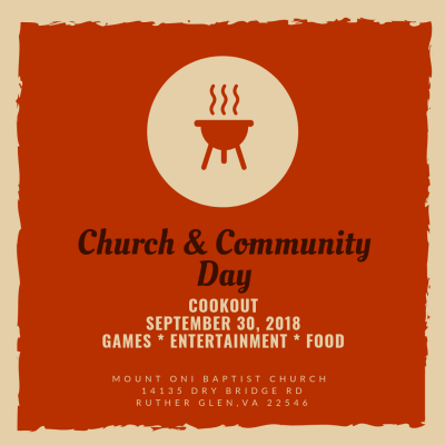 Church and Community Day