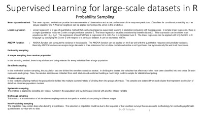 Predictive Models with Supervised learning in Statistics in R