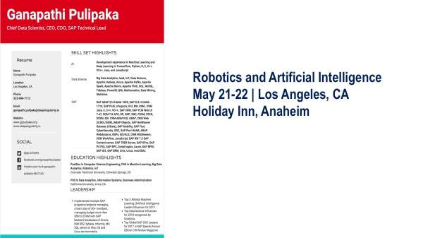 Robotics and Artificial Intelligence Conference 2018