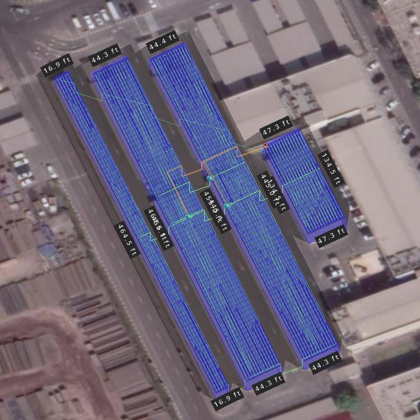 UAE Solar Carport - 3D View