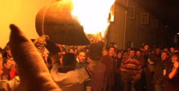 Flaming Tar Barrels at the Ottery Tar Barrels festival