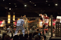 Kaiju Big Battel wrestling match