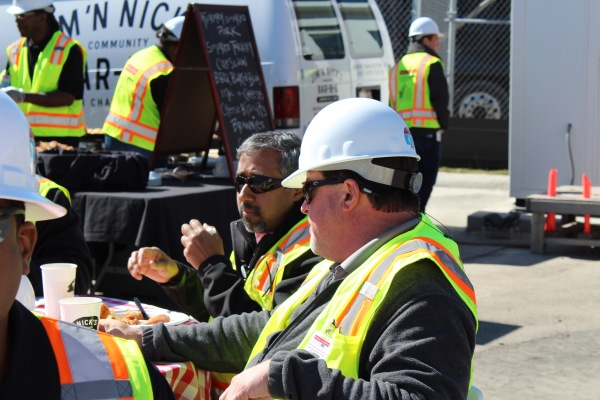 Jobsite Lunch provided by Shawn Jenkins