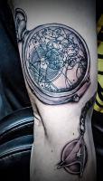 Tattoo by Mike Harkins from Black Cloud Tattoo