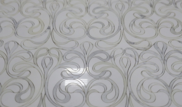 Custom Stone Waterjet for Floor - Las Vegas Residence