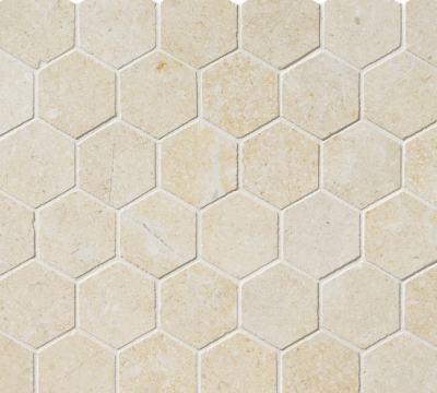 GOLDEN SAND HONED HEXAGON