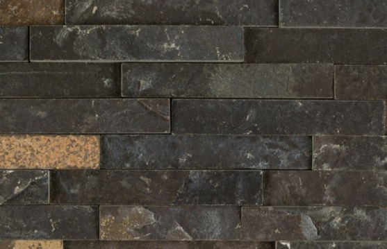 BLACK SLATE STACKED 1 INCH