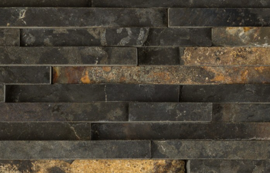 BLACK SLATE STACKED 1/2 INCH