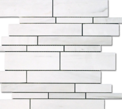 BIANCO DOLOMITI MARBLE RANDOM STRIP POLISHED