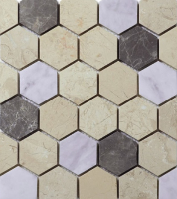 HEXAGON 2 MOSAIC HONED