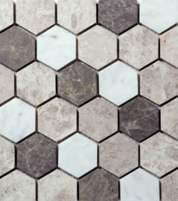 HEXAGON 4 MOSAIC HONED