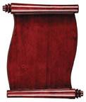 Scroll plaque
