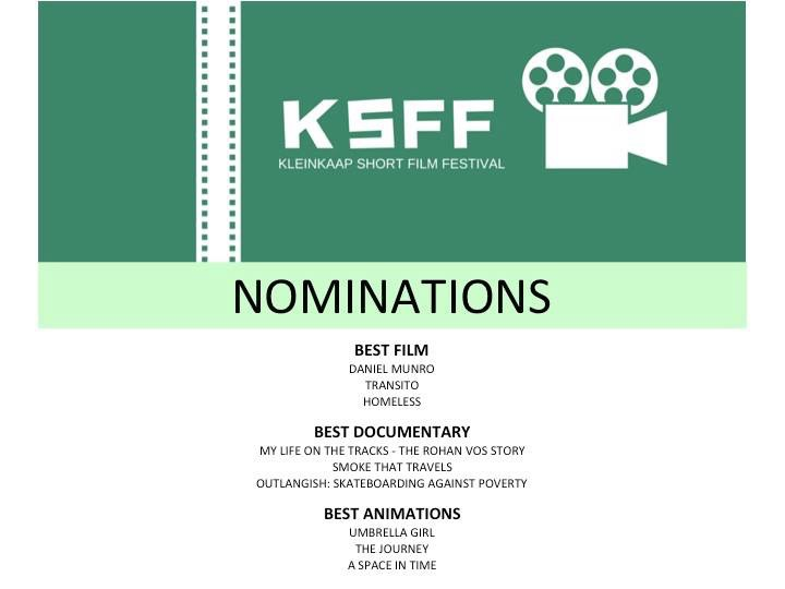 Nominated for 'Best Documentary' at KSFF !