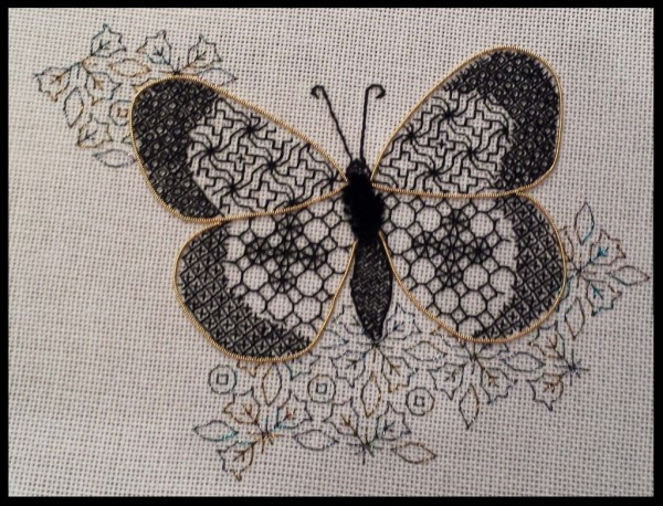 Tanja Berlin's Blackwork Butterfly