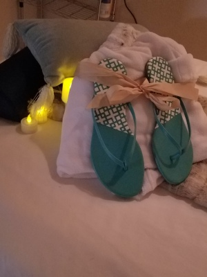 Spa robe and slippers