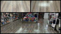 Before and after images of commercial floor cleaning