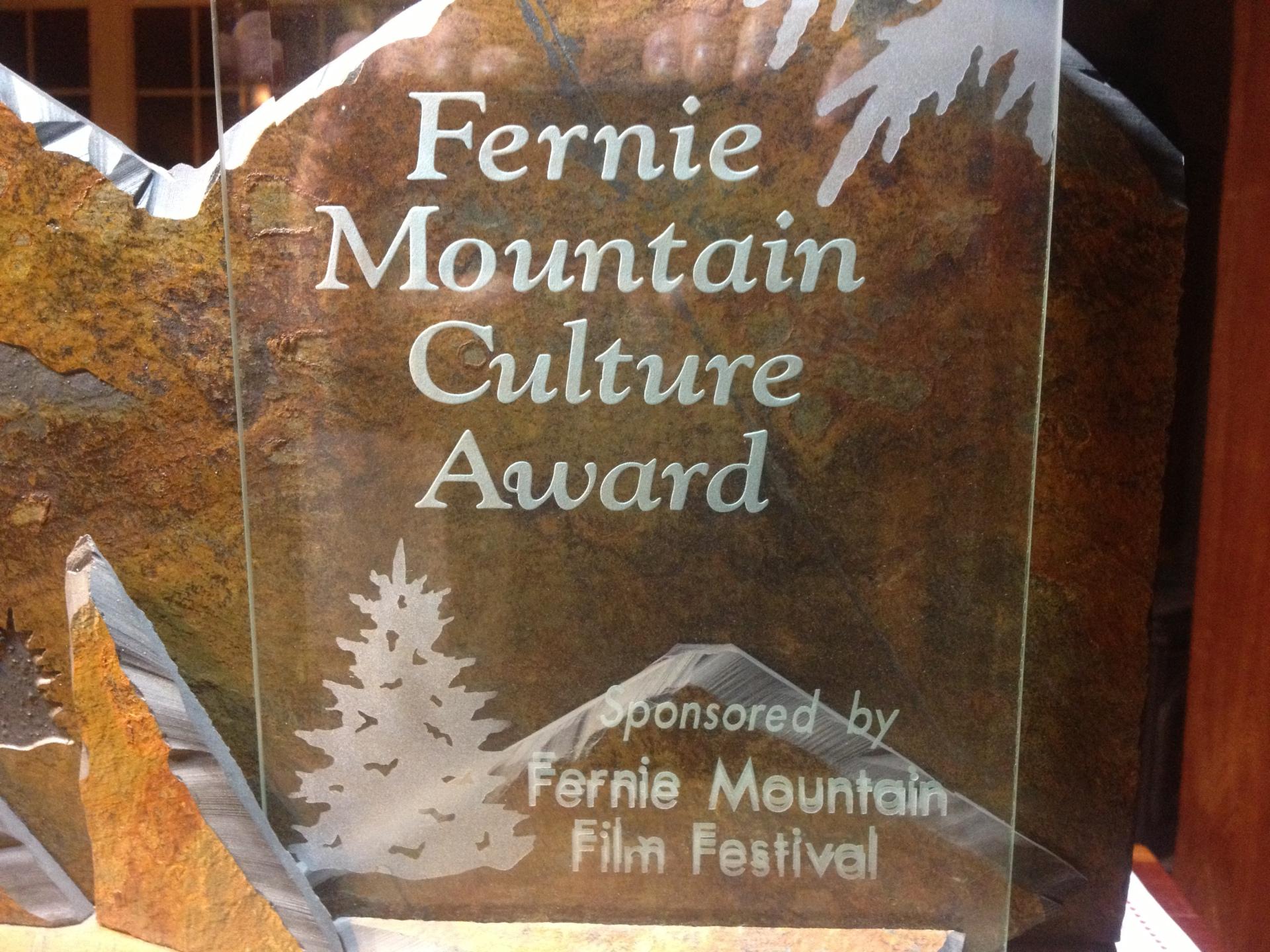 Fernie Mountain Culture Award