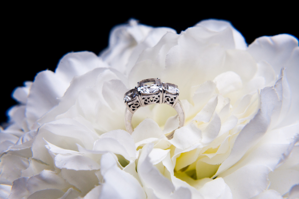 Wedding Ring in Bouquet