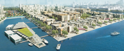 Dubai Waterfront City Boulevard Park