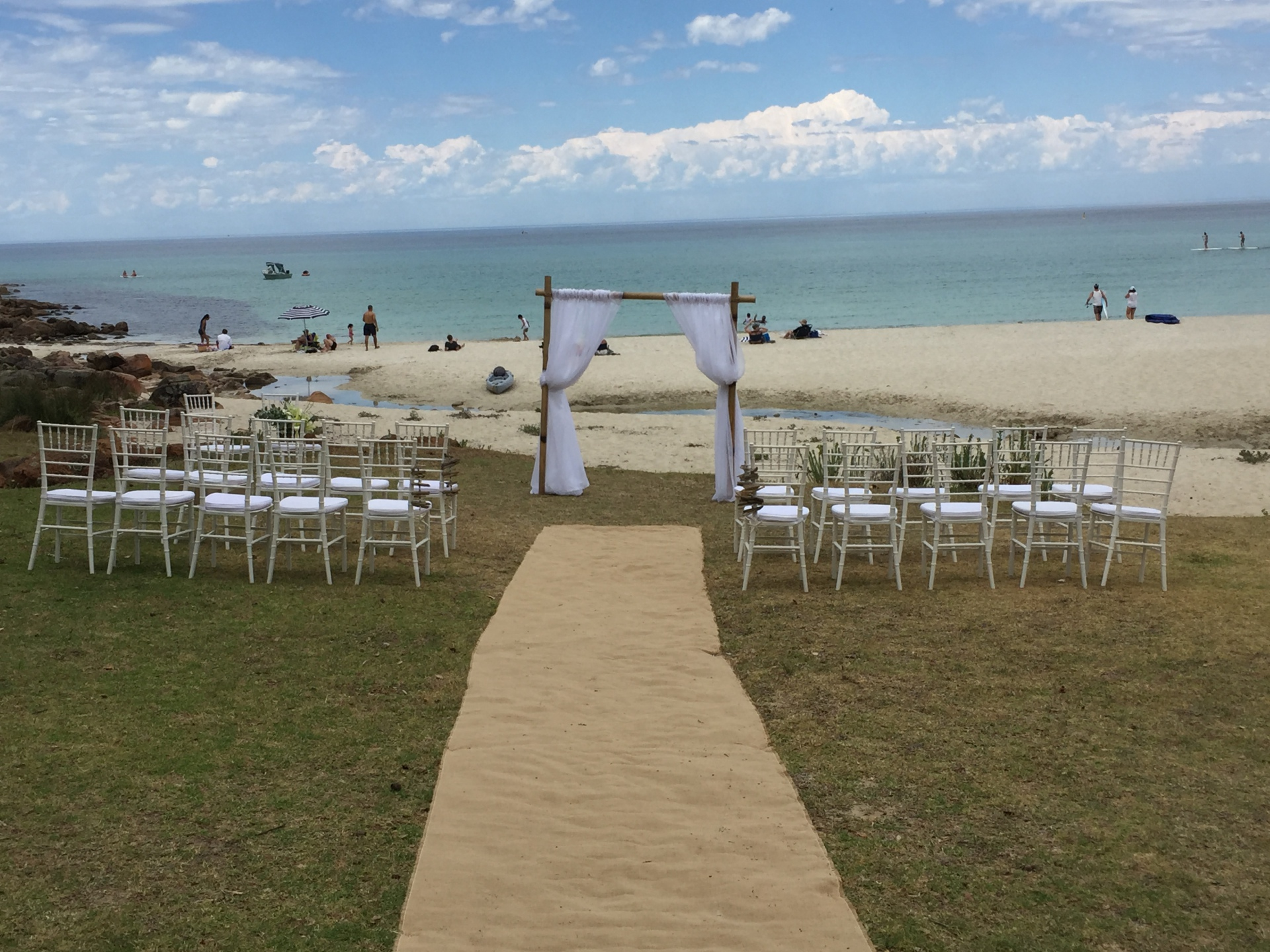 It's a nice day for a beach wedding!!