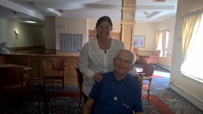 Amy Singletary RDH and Spunky 101 year old participant!