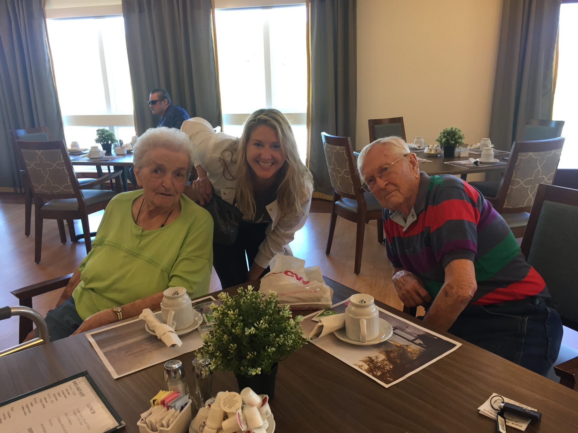 Megan Norman, RDH with residents.