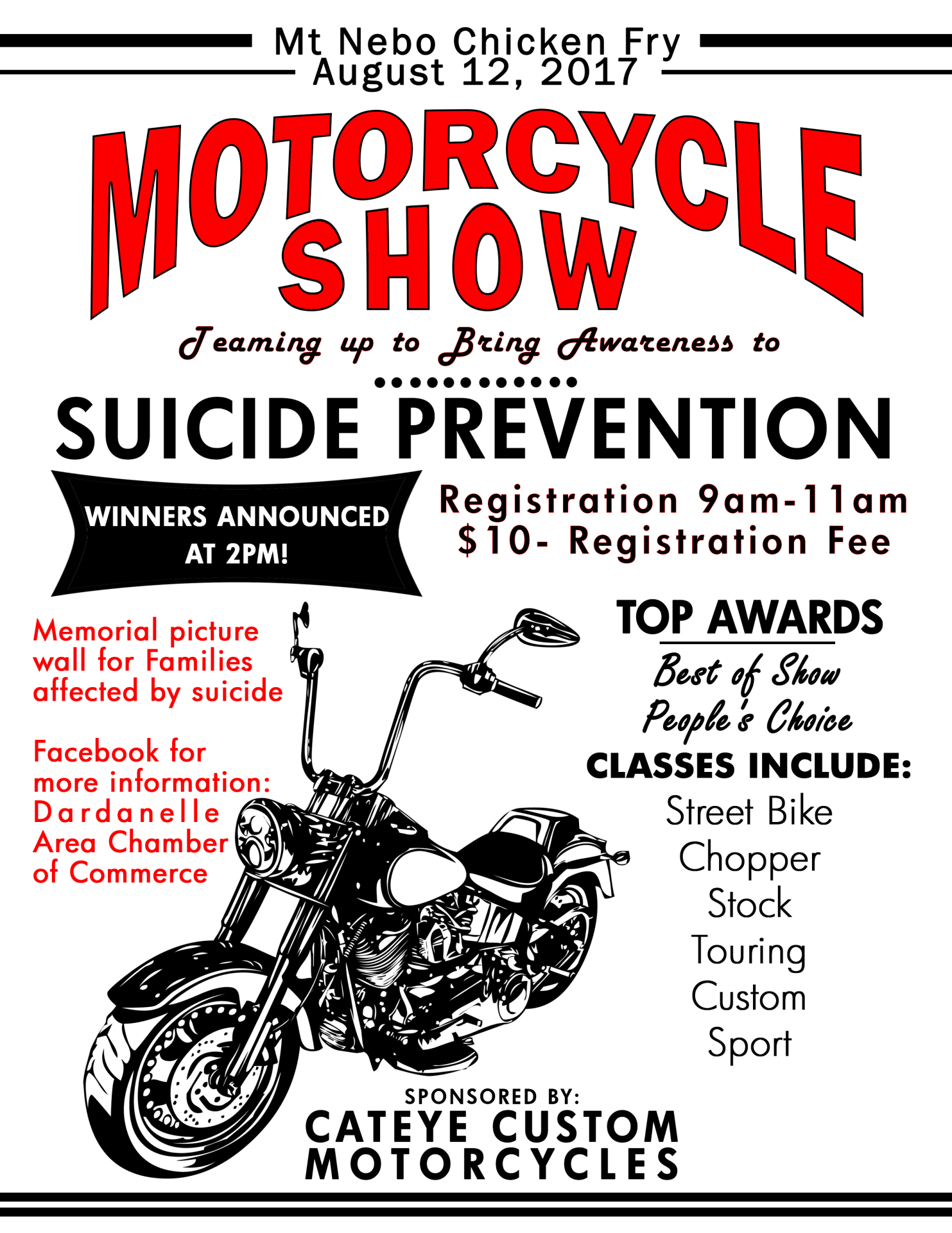 Motorcycle Show at Mt Nebo Chicken Fry