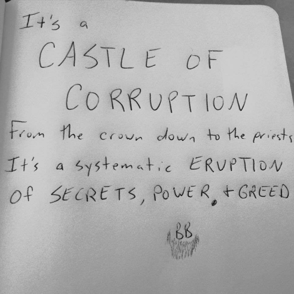 "Lyrics for ""Castle of Corruption"""