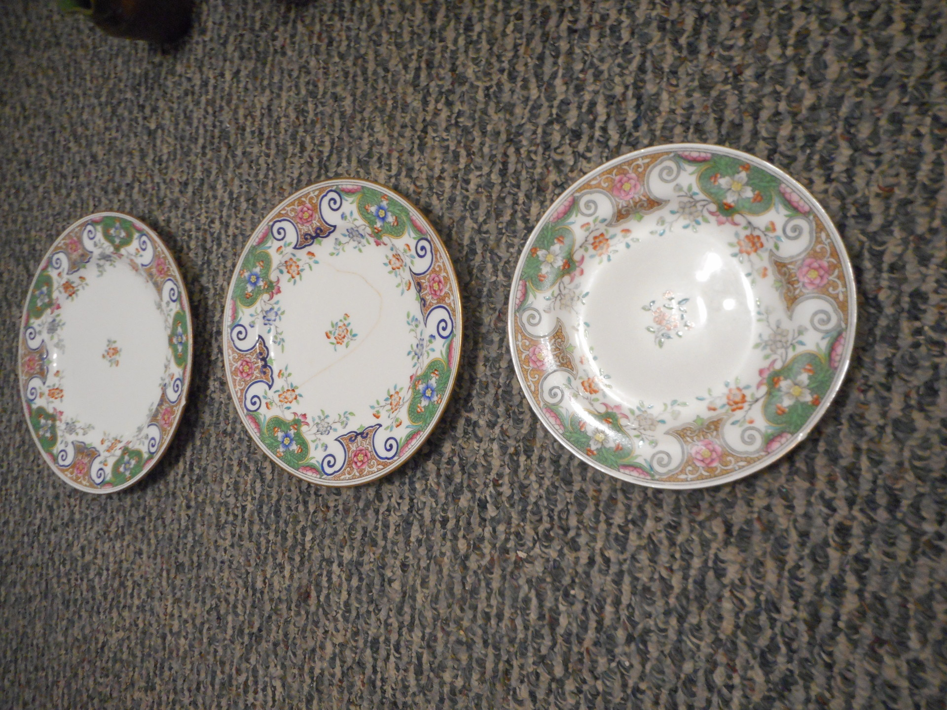 R. Briggs & Co. Boston Made in England - Three Plates