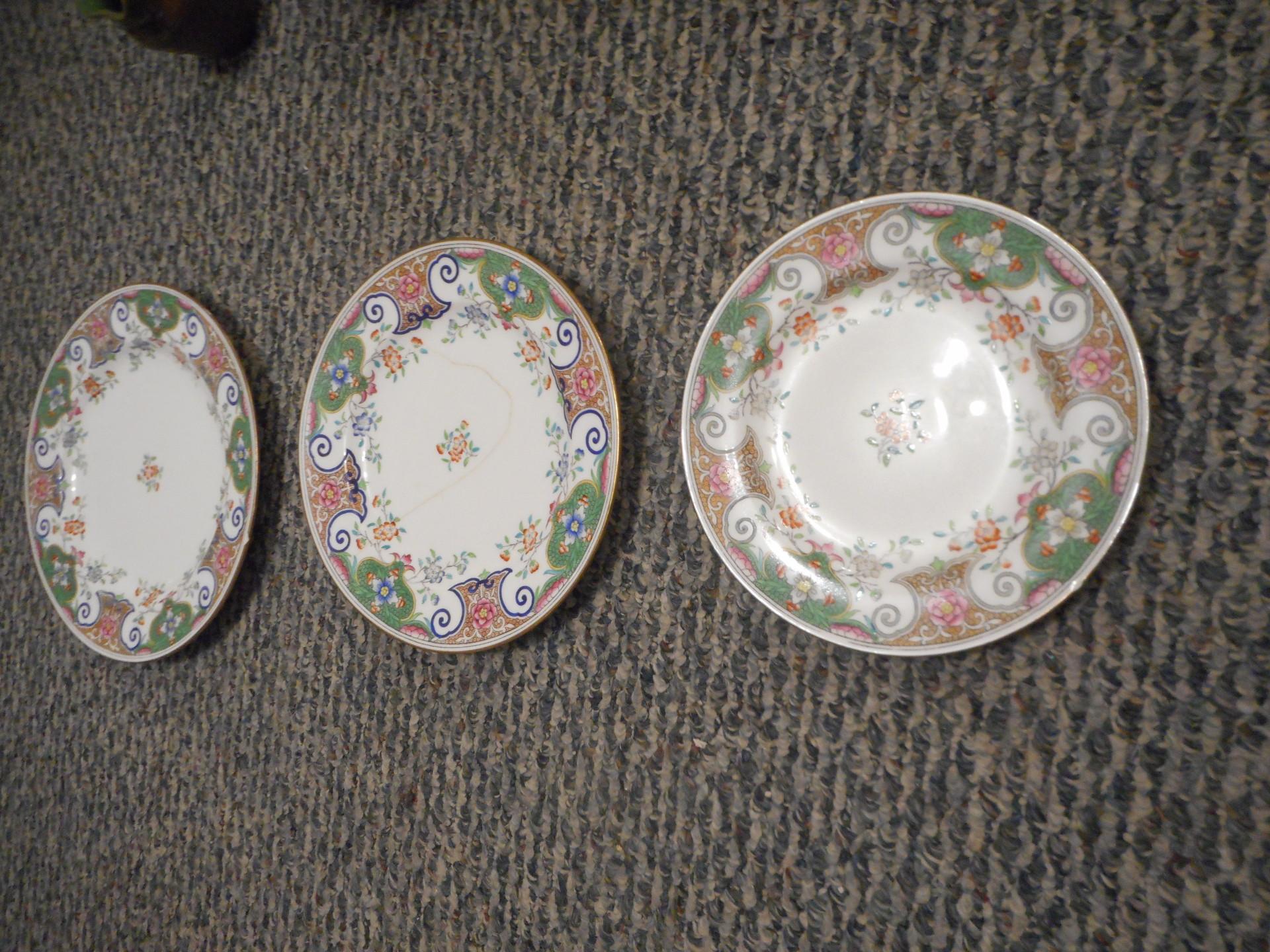 R. Briggs & Co. Boston Made in England - Three Plates