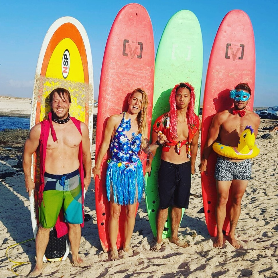 Ohana Surf and Fitness. Surfing holidays and surf camps. Fitness holidays, STOTT Pilates, Life coaching, celebrity fitness, bootcamps,Travel and live-in personal training options, nutrition, children's health and fitness and luxury or standard private and sharing accommodation. Tailor made surf and fitness holiday packages. Family run business with fully qualified and internationally recognised instructors and coaches. Cornwall, United Kingdom and Corralejo, Fuerteventura. Single travellers, couple, groups and families.