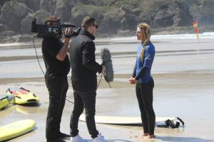 Sky Sports interview champion uk pro surfer -  Tehillah McGuinness South African celebrity Pro Surfer celebrity personal trainer, the UK's top female surfing champion, the face of the new mini countryman car, sports model, face of deeside mineral water, ambassador for women's sport  UK, lives in Cornwall and Fuerteventura, blogger, travel blogger, health and fitness, fashion designer, presenter, athlete and business woman. CEO and Founder of Ohana Surf and Fitness, Charity Worker, cover girl, magazine and the UK's number one sports personality.