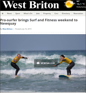 West Britton Newspaper - Urban Beach UK and Osprey Action Sports - Tehillah McGuinness South African celebrity Pro Surfer celebrity personal trainer, the UK's top female surfing champion, the face of the new mini countryman car, sports model, face of deeside mineral water, ambassador foe womens sport  UK, lives in Cornwall and Fuerteventura, blogger, travel blogger, health and fitness, fashion designer, presenter, athlete and business woman. CEO and Founder of Ohana Surf and Fitness, Charity Worker, cover girl, magazine and the UK's number one sports personality.