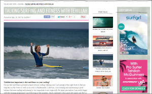 Surf Girl Magazine interview with Sport Illustrated swimsuit model and celebrity pro surfer Tehillah McGuinness - Urban Beach UK and Osprey Action Sports - Tehillah McGuinness South African celebrity Pro Surfer celebrity personal trainer, the UK's top female surfing champion, the face of the new mini countryman car, sports model, face of deeside mineral water, ambassador foe womens sport  UK, lives in Cornwall and Fuerteventura, blogger, travel blogger, health and fitness, fashion designer, presenter, athlete and business woman. CEO and Founder of Ohana Surf and Fitness, Charity Worker, cover girl, magazine and the UK's number one sports personality.