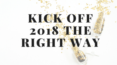 Kick Off 2018 The Right Way