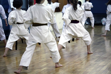 a traditional Japanese Karate class