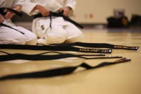 traditional karate class