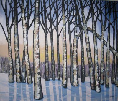 Icy Birches