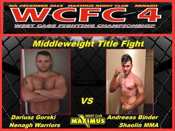Andreeas Binder aiming for the MW title Dec 5th