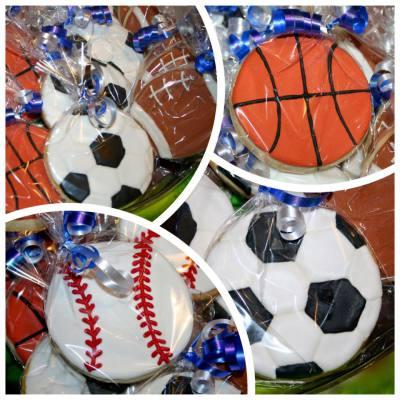 Sports Ball Sugar Cookies
