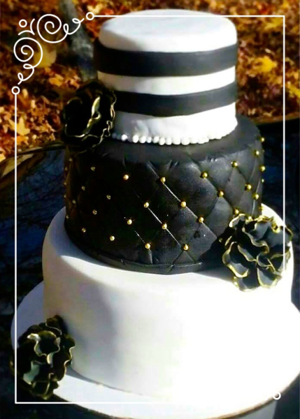 Triple Tier Custom Wedding Cake
