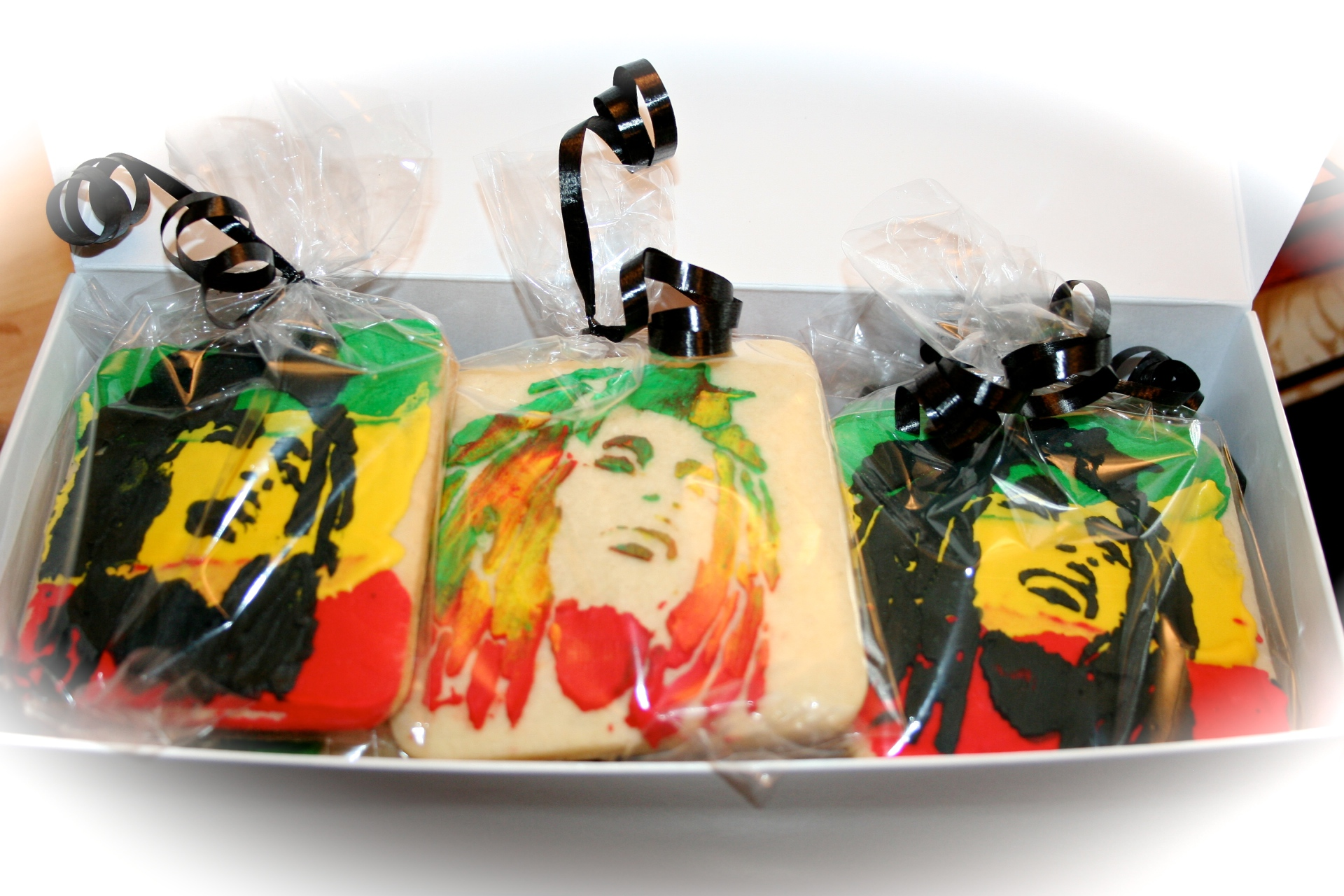 Bob Marley Sugar Cookie