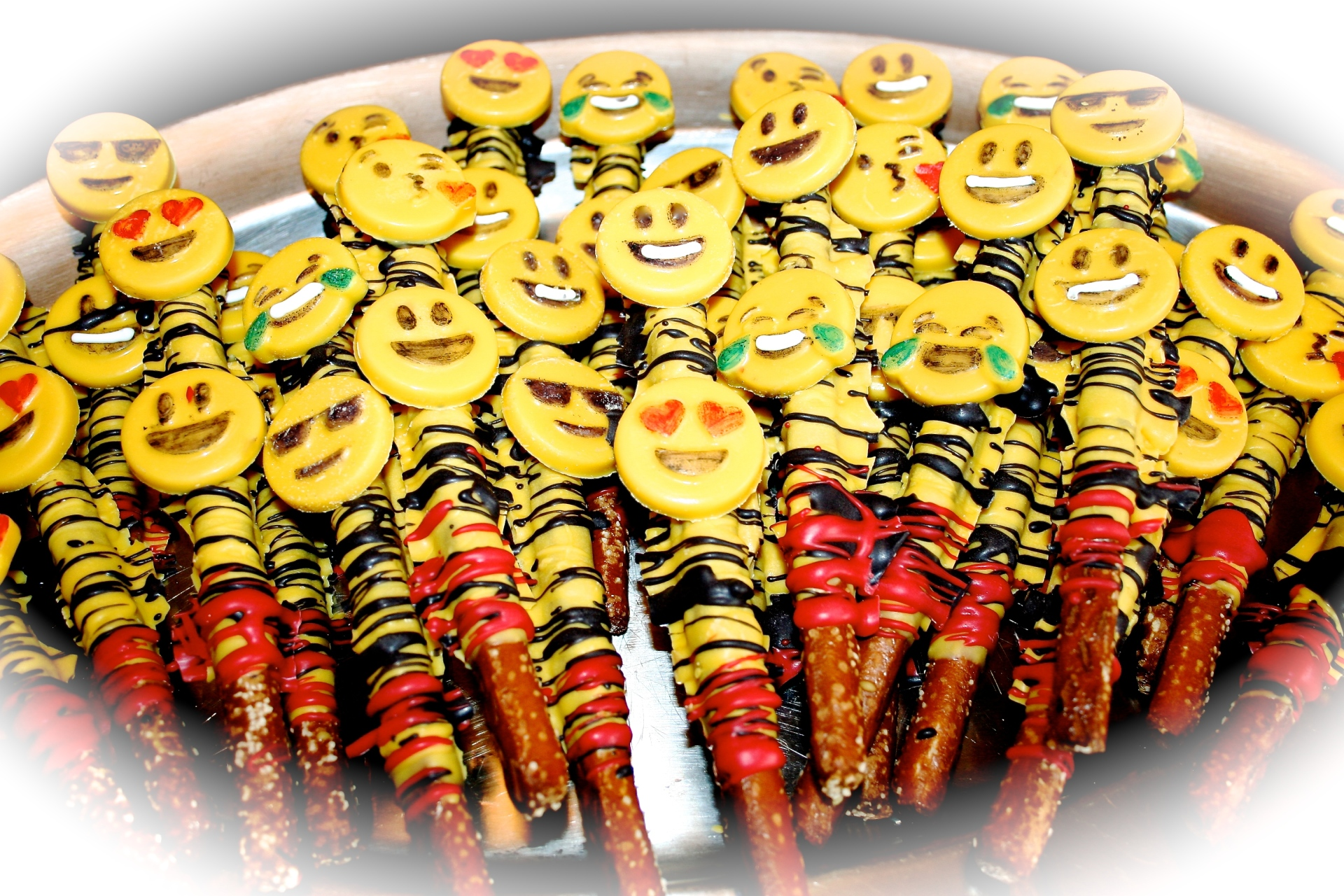 Emoji Chocolate Covered Pretzels
