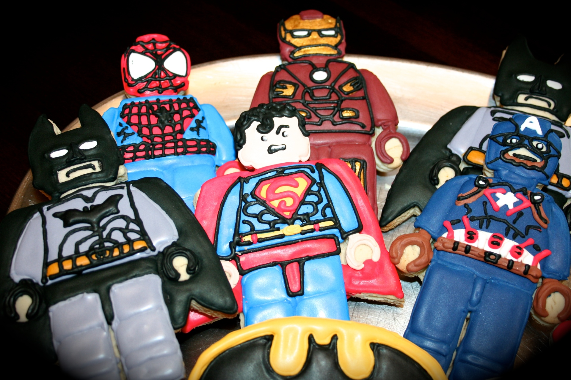 Lego Super Hero Custom Cookies