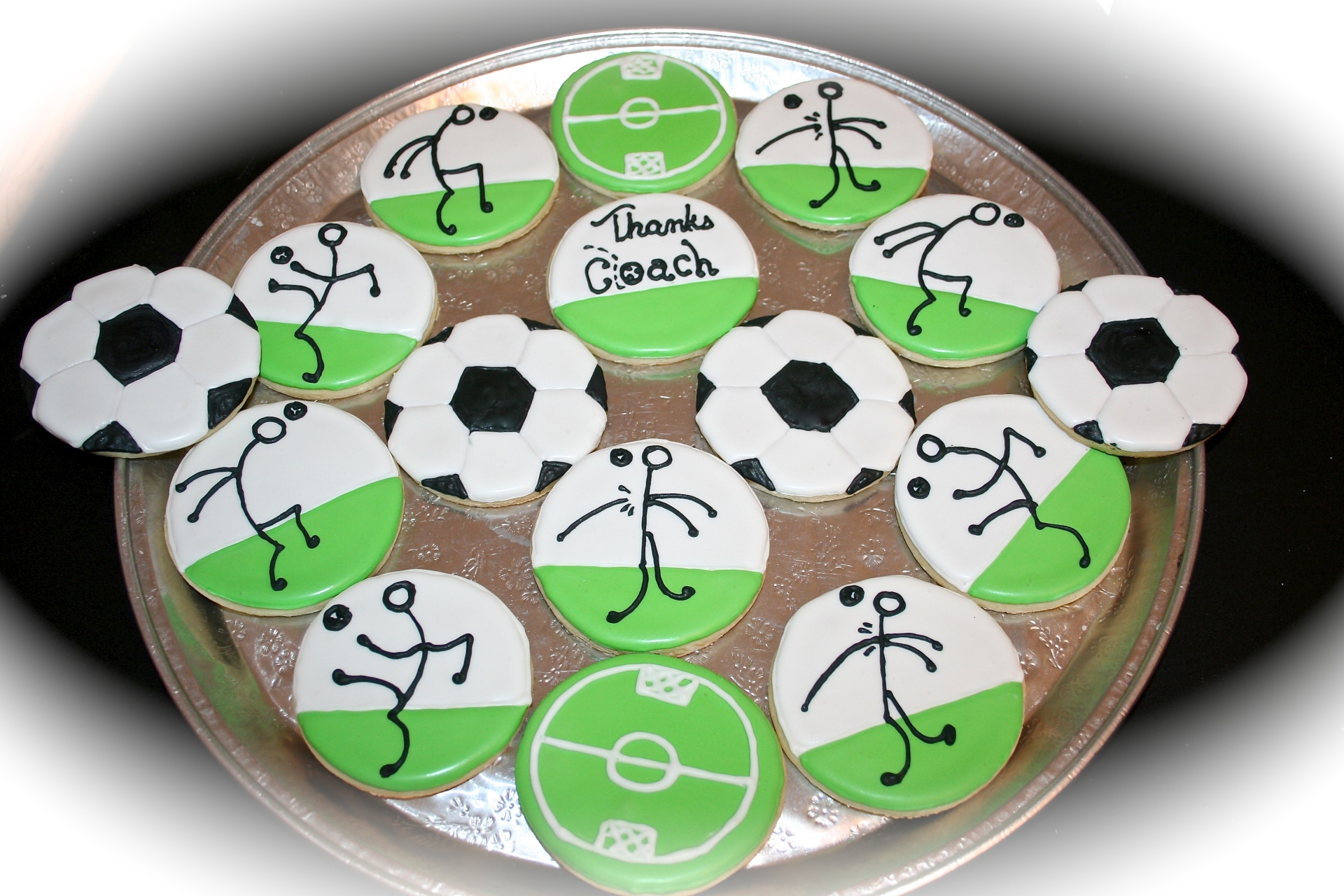 Soccer Theme Custom Sugar Cookie Set
