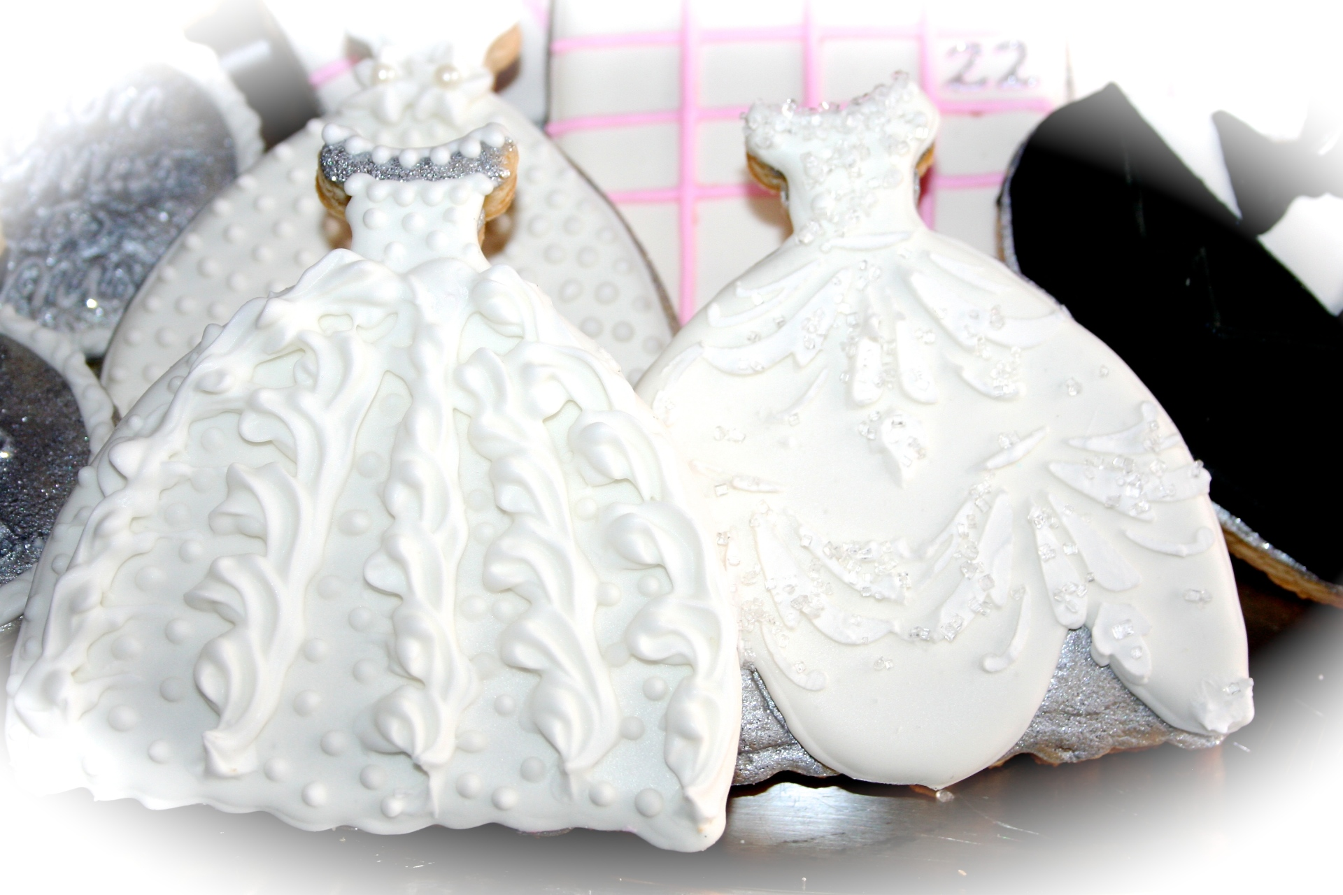 Wedding Gowns Sugar Cookies