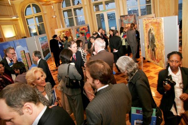 2007. Exposición de la Escuela Mexicana de Arte Down en el Palais Wilson, Suiza