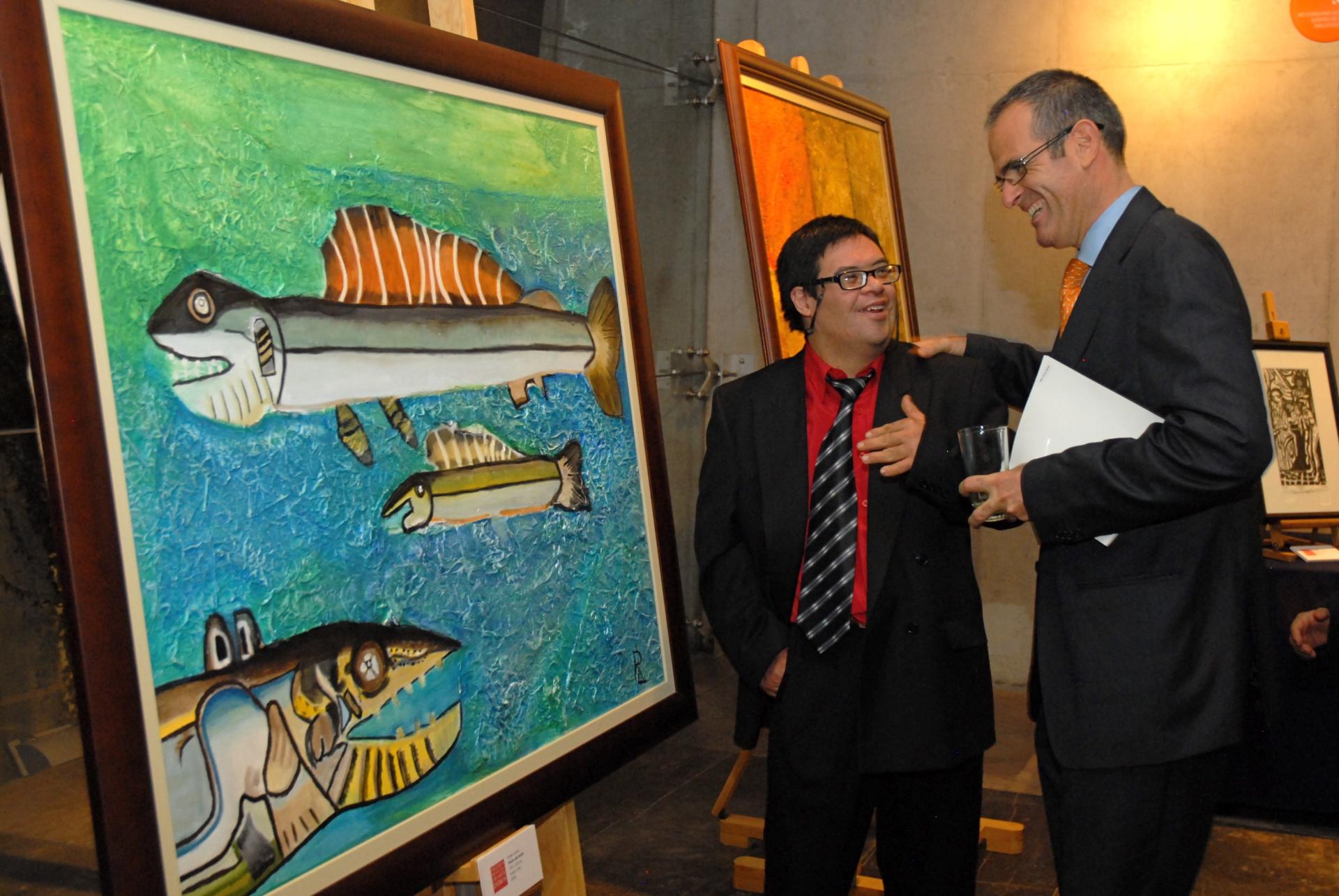 Artista Rubén Larios y Javier Mérida, Dir. Televisa Radio