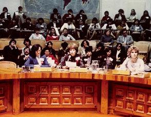 1983. 2º Congreso Mundial sobre síndrome de Down, con el Dr. Joe Berg, el Dr. George Smith, el Dr. Jérôme Lejeune y el Dr. Siegfried M. Pueshel